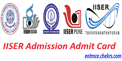 IISER Admission Admit Card 2017