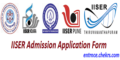 IISER Admission Application Form 2017