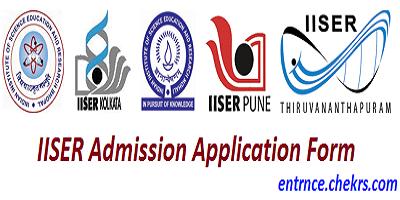 IISER Admission Application Form 2017