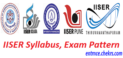 IISER Syllabus, Exam Pattern 2017