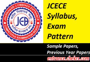 JCECE Syllabus Exam Pattern 2017