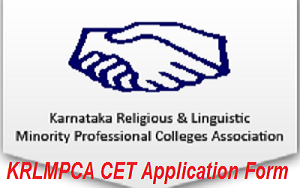 KRLMPCA CET Application Form 2017