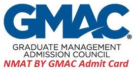 NMAT BY GMAC Admit Card 2017
