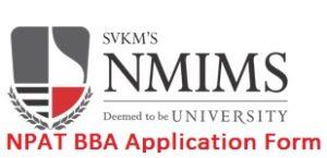 NPAT BBA Application Form 2017