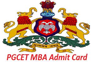 PGCET MBA Admit Card 2017