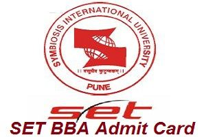 SET BBA Admit Card 2017