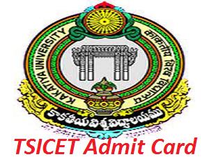 TSICET Admit Card 2017