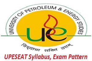 UPESEAT 2017 Syllabus, Exam Pattern