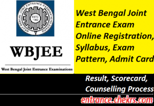WB Joint Entrance Exam 2017