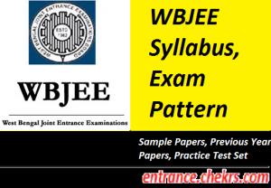 WBJEE Syllabus Exam Pattern 2017