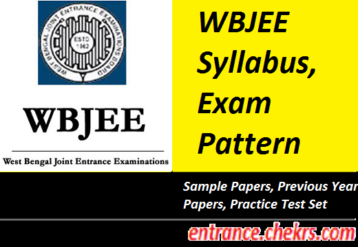 WBJEE Syllabus Exam Pattern 2017