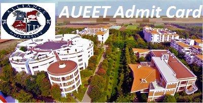 AUEET Admit Card 2017