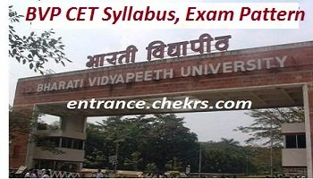 BVP CET Syllabus, Exam Pattern 2017