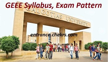 GEEE Syllabus, Exam Pattern 2017