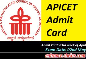 APICET Admit Card 2017