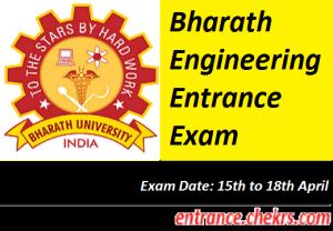 Bharath Engineering Entrance Exam 2017