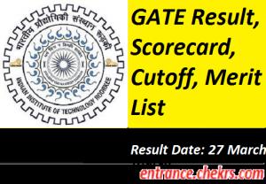 GATE Result, Scorecard 2017