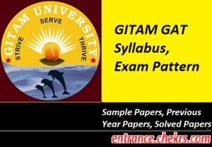 GITAM GAT Syllabus Exam Pattern 2017
