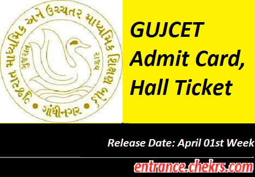 GUJCET Admit Card 2017