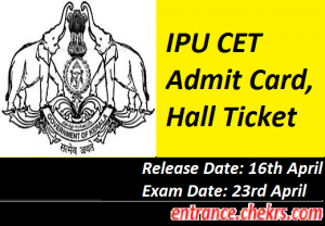 IPU CET Admit Card 2017