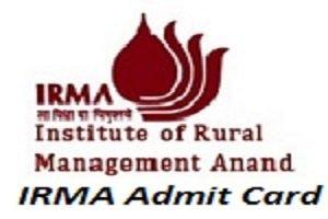 IRMA Admit Card 2017