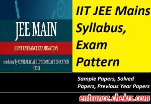 JEE Main Syllabus, Exam Pattern 2017