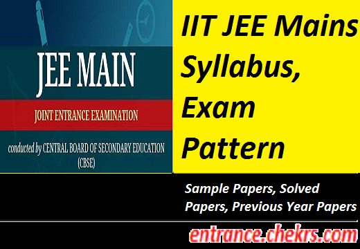 JEE Main Syllabus, Exam Pattern 2017