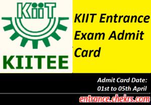 KIITEE Admit Card 2017