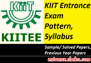 KIITEE Syllabus Exam Pattern 2017