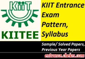 KIITEE Syllabus Exam Pattern 2017