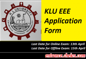KLU EEE Application Form 2017