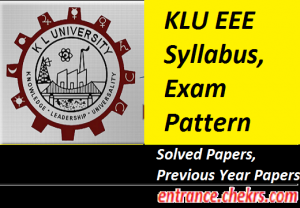 KLU EEE Syllabus Exam Pattern 2017