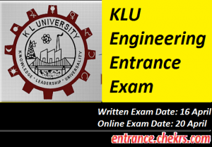 KLU Engineering Entrance Exam 2017