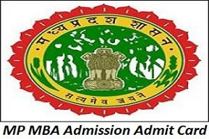 MP MBA Admission Admit Card 2017