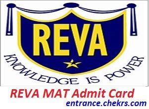 REVA MAT Admit Card 2017