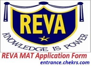 REVA MAT Application Form 2017