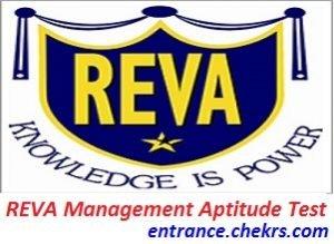 REVA Management Aptitude Test 2017