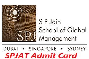 SPJAT Admit Card 2017