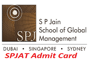 SPJAT Admit Card 2017