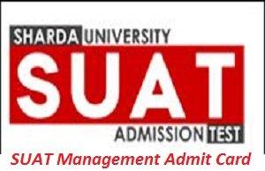 SUAT Management Admit Card 2017