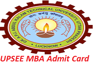 UPSEE MBA Admit Card 2017
