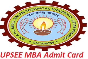UPSEE MBA Admit Card 2017