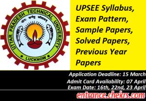 UPSEE Syllabus Exam Pattern 2017