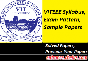 VITEEE 2017 Syllabus, Exam Pattern