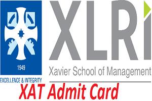 XAT Admit Card 2017
