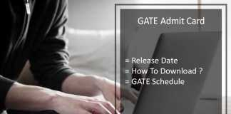 GATE Admit Card - Check GATE Hall Ticket, Call Letter