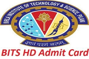 BITS HD Admission Admit Card 2017