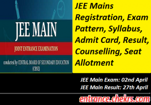 Joint Entrance Exam Mains 2017