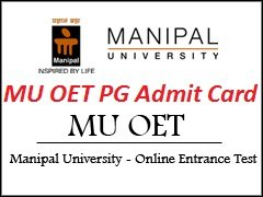 MU OET PG Admit Card 2017