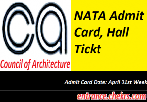 NATA Admit Card 2017